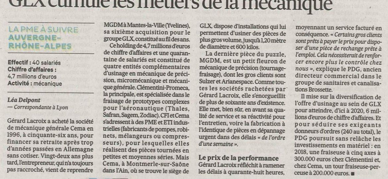 article de presse Les Echos